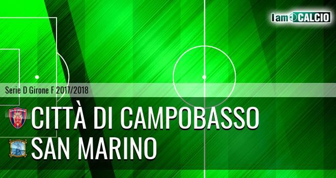 Città di Campobasso - San Marino 0-1. Cronaca Diretta 25/03/2018