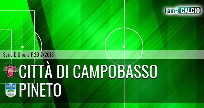 Città di Campobasso - Pineto 1-2. Cronaca Diretta 08/04/2018