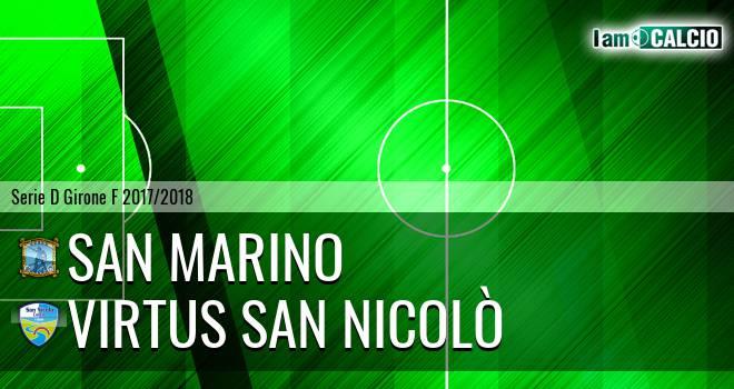 Cattolica Calcio SM - Virtus San Nicolò Teramo