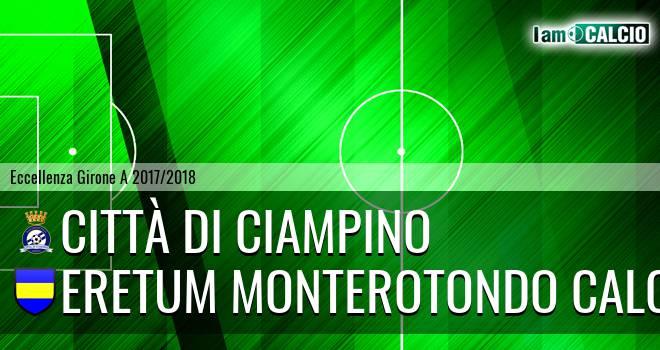 Città di Ciampino - Eretum Monterotondo Calcio