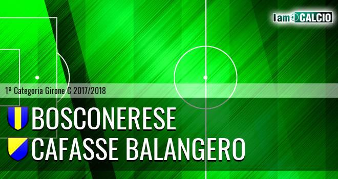 Bosconerese - Cafasse Balangero. Cronaca Diretta 25/02/2018