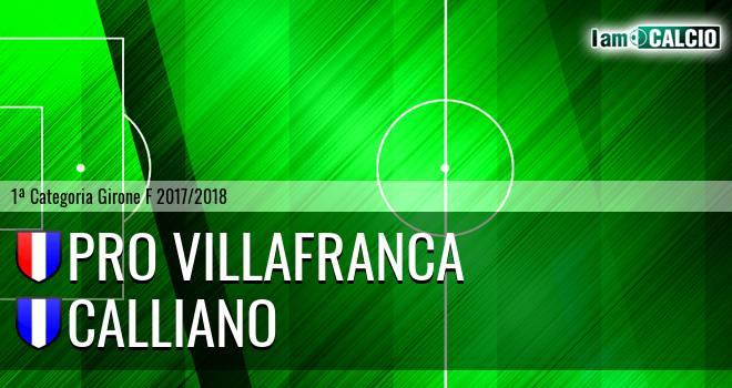 Pro Villafranca - Calliano