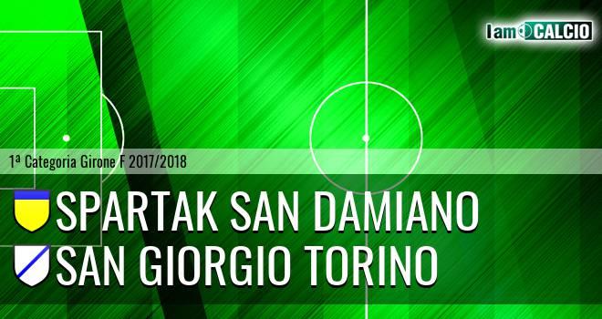 Spartak San Damiano - San Giorgio Torino