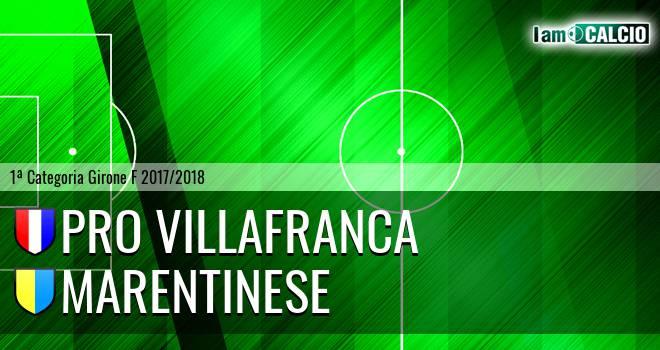 Pro Villafranca - Marentinese