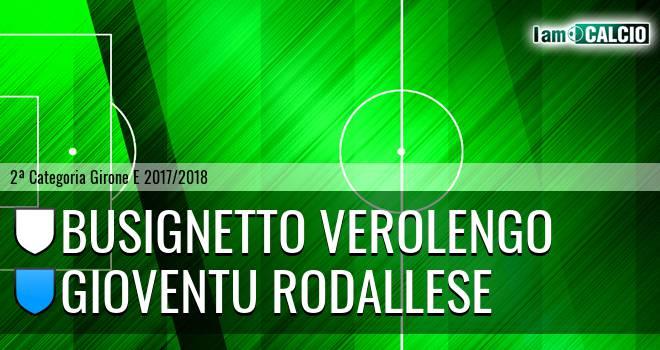 Busignetto Verolengo - Gioventu Rodallese
