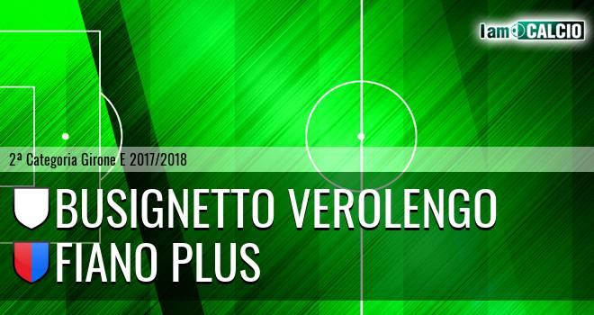 Busignetto Verolengo - Fiano Plus