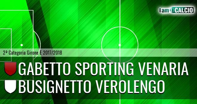 Gabetto Sporting Venaria - Busignetto Verolengo