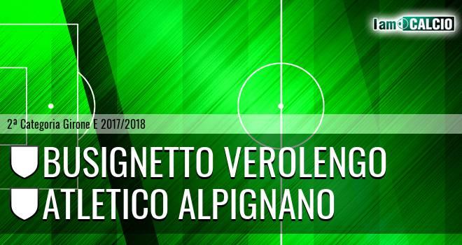 Busignetto Verolengo - Atletico Alpignano