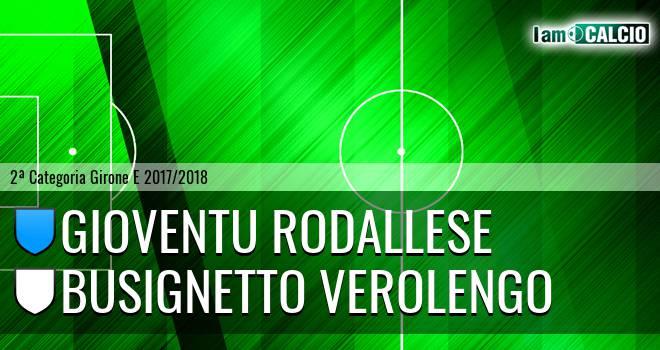 Gioventu Rodallese - Busignetto Verolengo