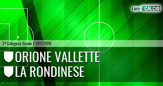 Orione Vallette - La Rondinese