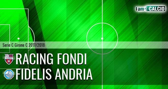 Racing Fondi - Fidelis Andria 1-0. Cronaca Diretta 11/03/2018