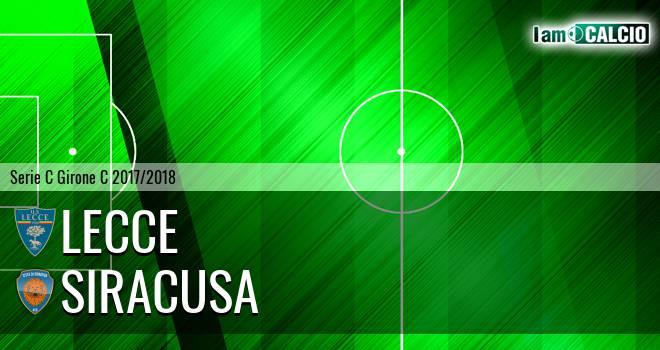 Lecce - Siracusa 1-1. Cronaca Diretta 31/03/2018