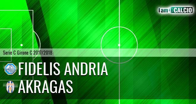 Fidelis Andria - Akragas 1-0. Cronaca Diretta 08/04/2018