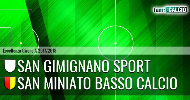 San Gimignano - San Miniato Basso Calcio