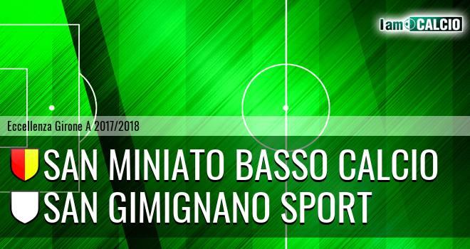 San Miniato Basso Calcio - San Gimignano