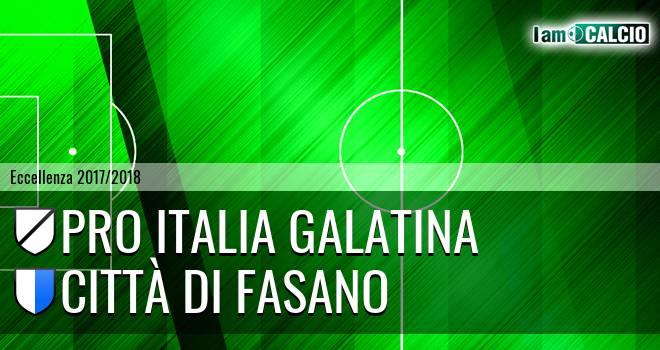 Pro Italia Galatina - Città di Fasano 0-8. Cronaca Diretta 17/02/2018