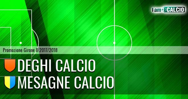 Deghi Calcio - Mesagne Calcio