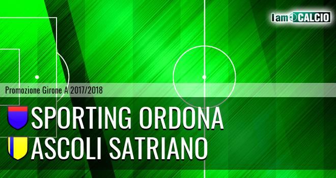 Sporting Ordona - Ascoli Satriano