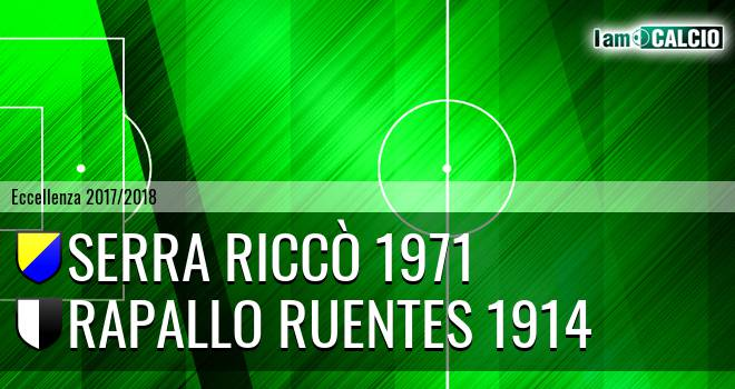 Serra Riccò 1971 - Rapallo Ruentes 1914