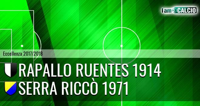Rapallo Ruentes 1914 - Serra Riccò 1971