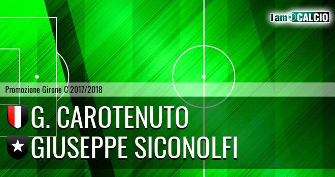 G. Carotenuto - Giuseppe Siconolfi