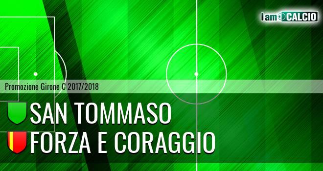 San Tommaso - Forza e Coraggio 3-2. Cronaca Diretta 17/02/2018