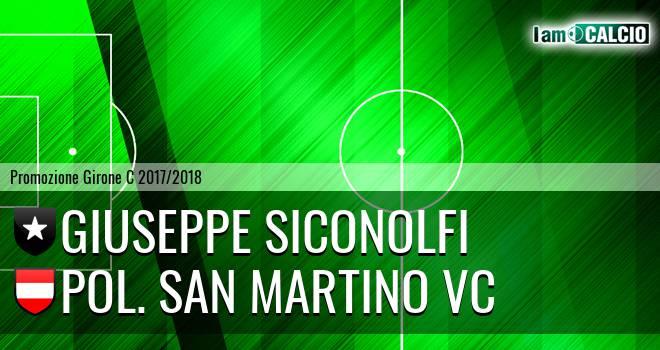 Giuseppe Siconolfi - Pol. San Martino VC