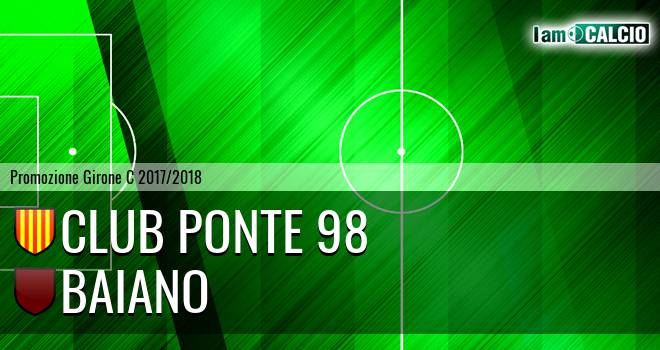 Club Ponte 98 - Baiano 3-1. Cronaca Diretta 08/04/2018