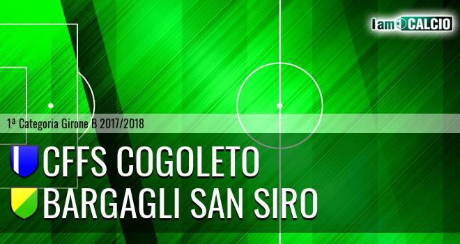 CFFS Cogoleto - Bargagli San Siro