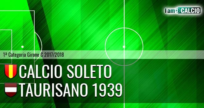 Calcio Soleto - Taurisano 1939