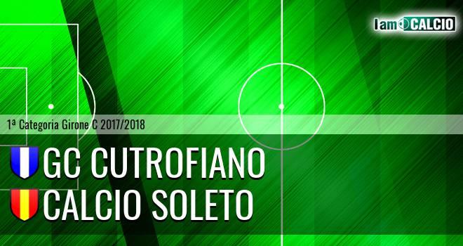 GC Cutrofiano - Calcio Soleto