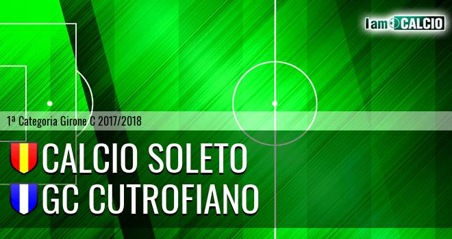 Calcio Soleto - GC Cutrofiano