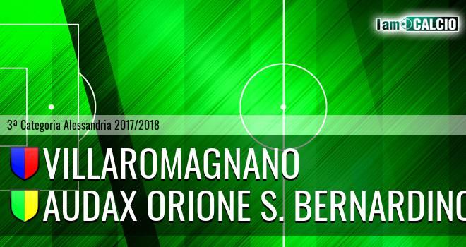 Villaromagnano - Audax Orione S. Bernardino