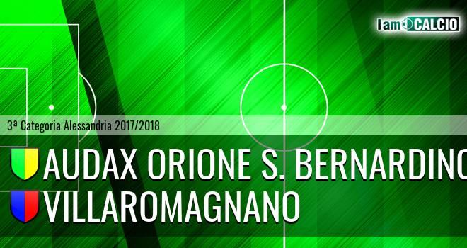 Audax Orione S. Bernardino - Villaromagnano