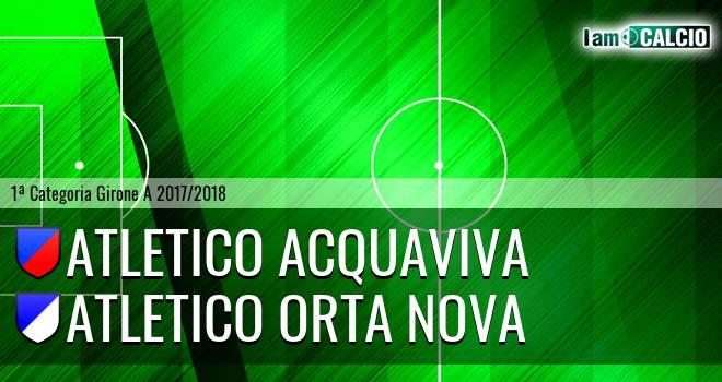 Atletico Acquaviva - Atletico Orta Nova
