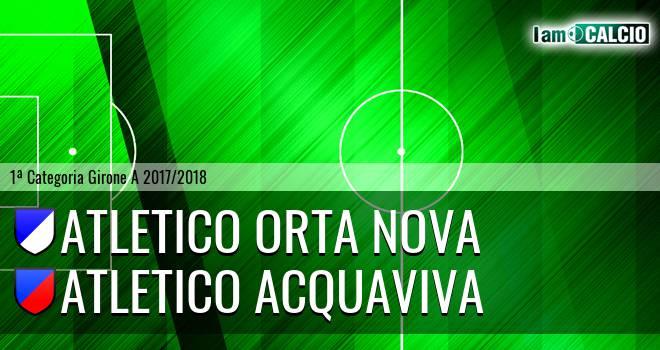 Team Orta Nova - Atletico Acquaviva
