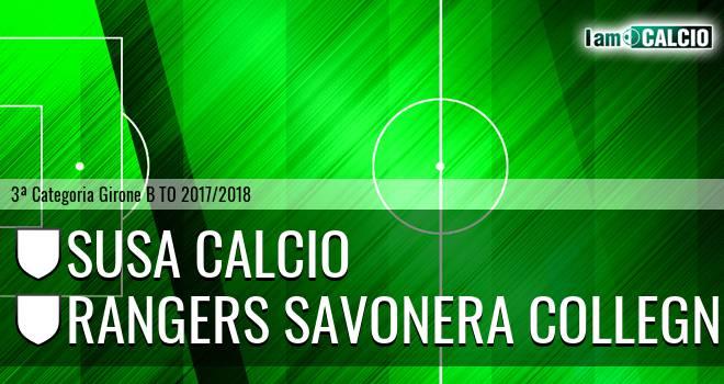 Susa Calcio - Rangers Savonera Collegno