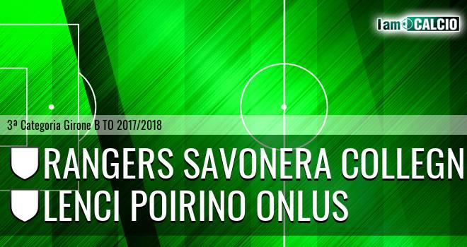 Rangers Savonera Collegno - Lenci Poirino Onlus