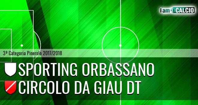 Sporting Orbassano - Circolo Da Giau DT