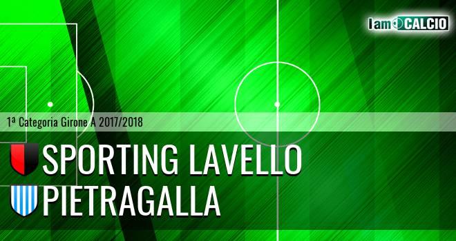 Sporting Lavello - Pietragalla