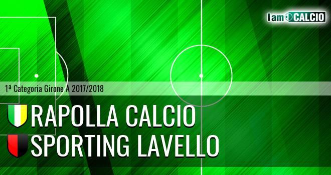 Rapolla Calcio - Sporting Lavello