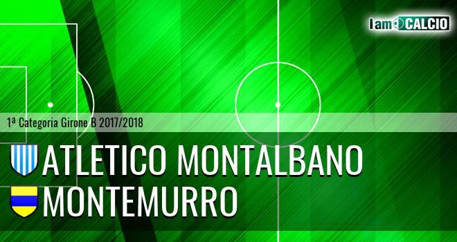 Atletico Montalbano - Montemurro