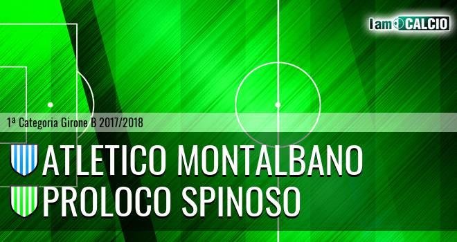 Atletico Montalbano - Proloco Spinoso