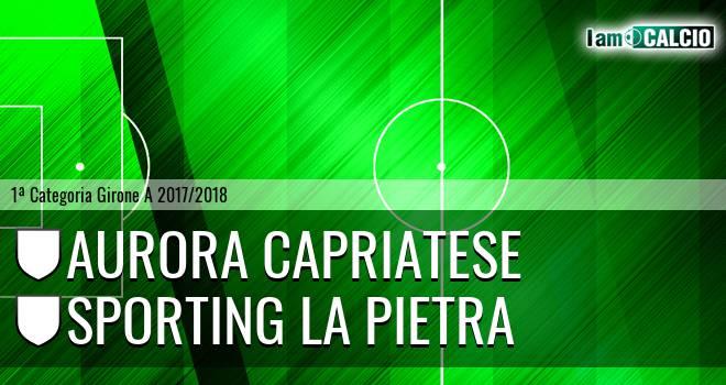 Aurora Capriatese - Sporting La Pietra