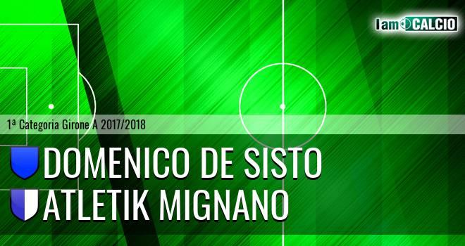 Domenico De Sisto - Atletik Mignano