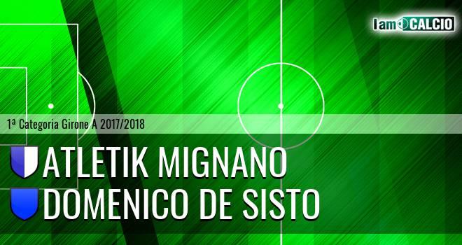 Atletik Mignano - Domenico De Sisto