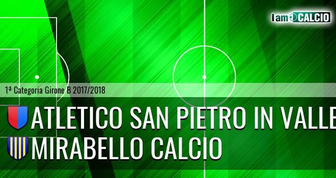 Atletico San Pietro in Valle - Mirabello Calcio