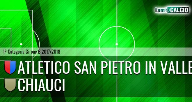 Atletico San Pietro in Valle - Chiauci