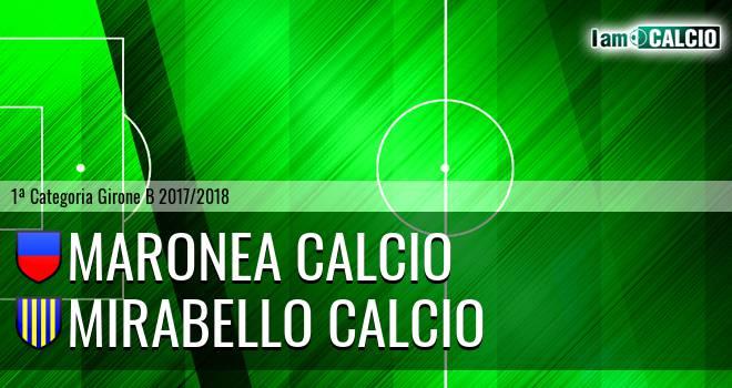 Maronea Calcio - Mirabello Calcio