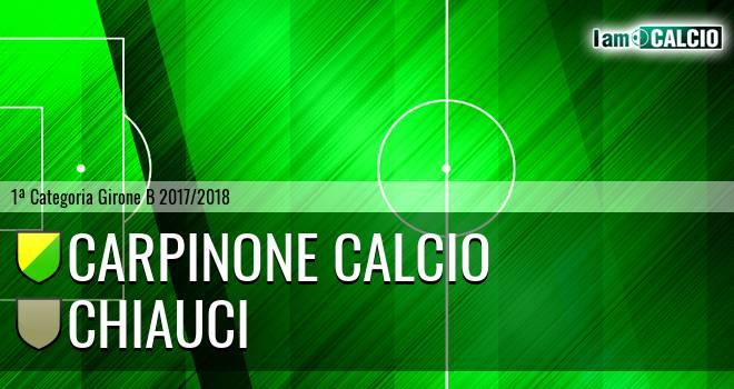 Carpinone Calcio - Chiauci